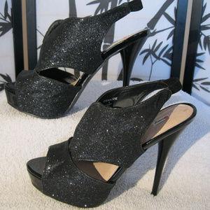 Osnazzie by Olsenboye | Blk Glitter Heels | Size 9